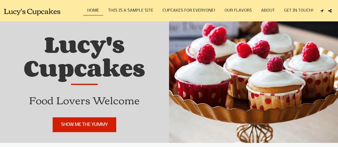 free site123 demo website lucys cupcakes