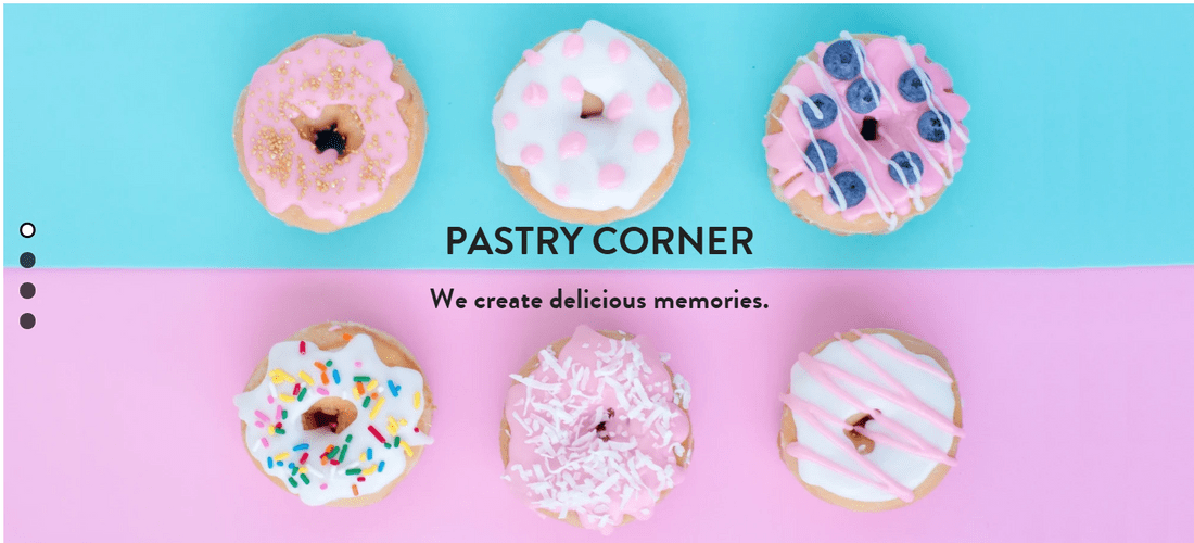 strikingly free website builder pastry corner template