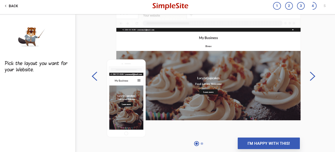 free website builder simplesite layout editor