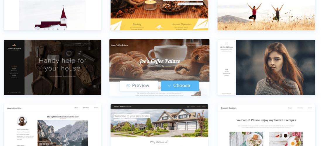 webnode free builder template edit or preview