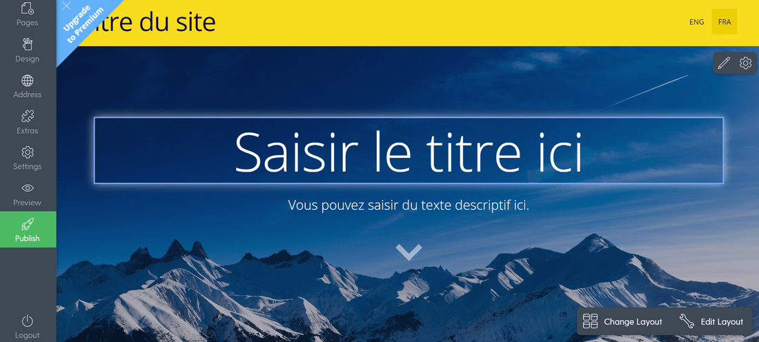 free website builder mozello french editor