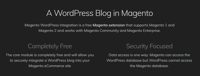 wordpress magento integration tool