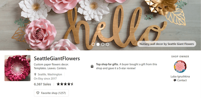 etsy store banners