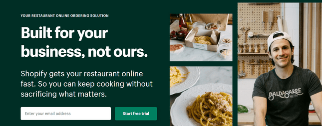 shopify ecommerce restaurant builder