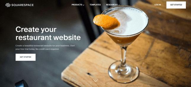 squarespace best informational restaurant website builder