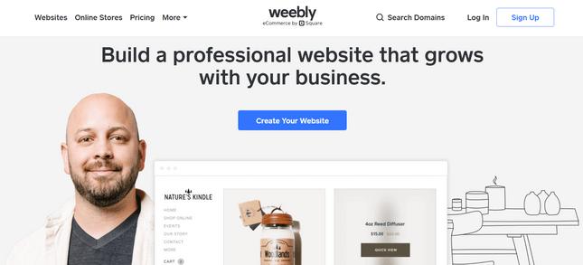 weebly informational restaurant builder
