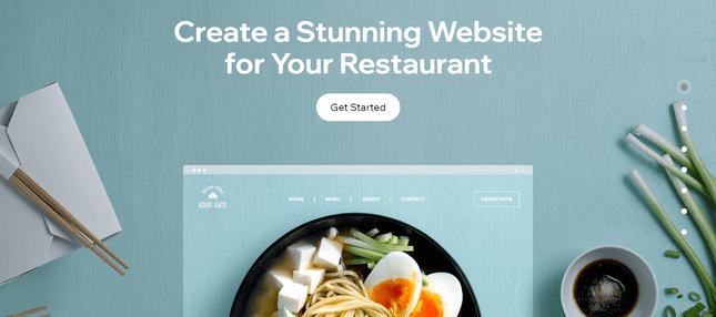 wix easiest restaurant website builder
