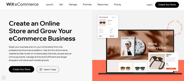 wix ecommerce restaurant website builder
