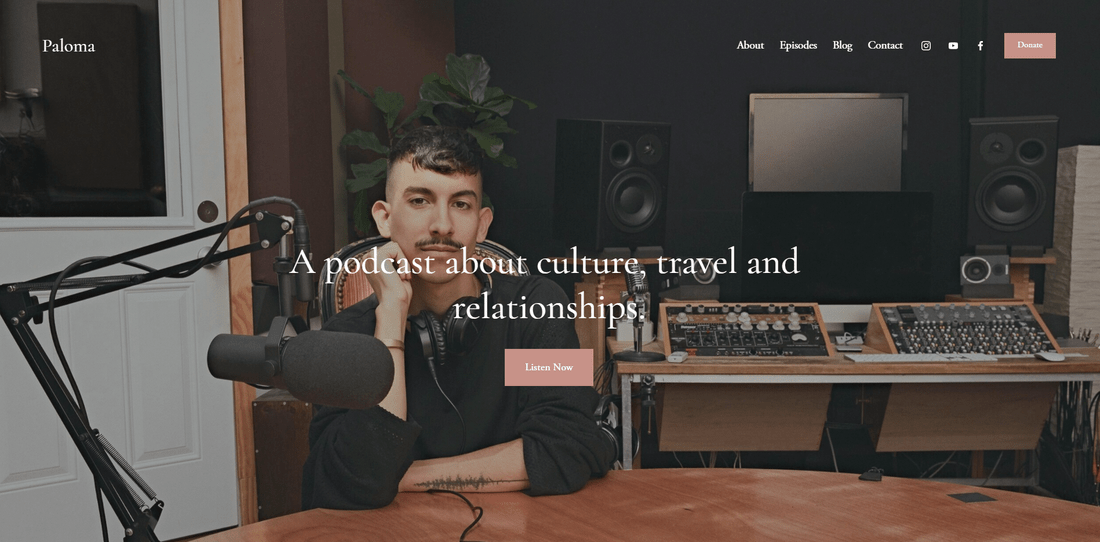 best squarespace template for blogs and podcasts paloma