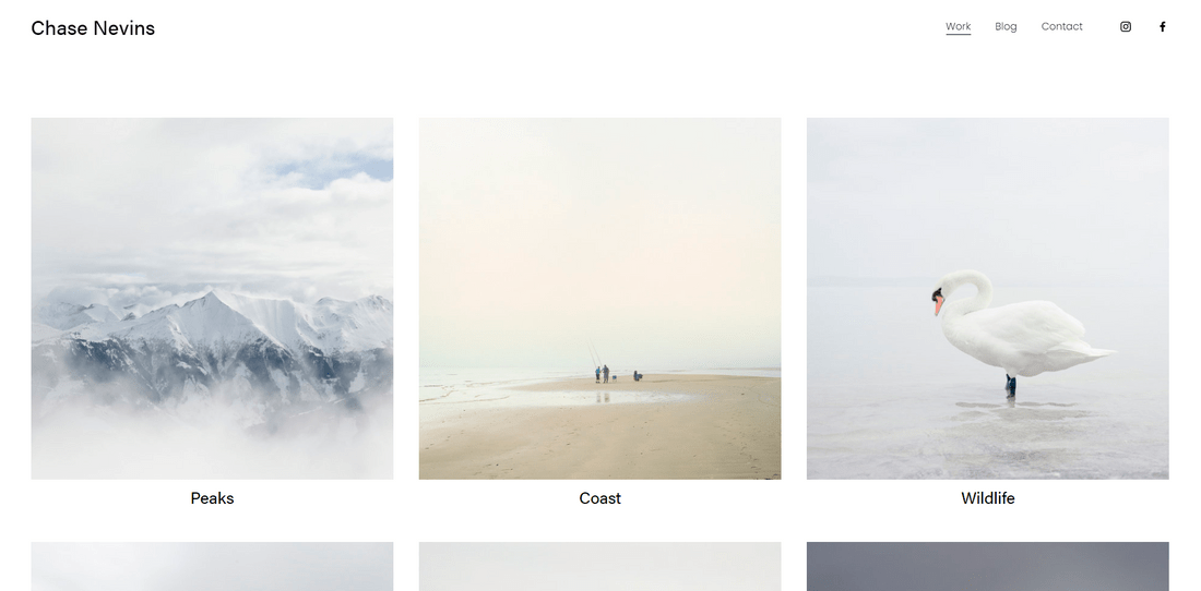 best squarespace template for portfolios nevins
