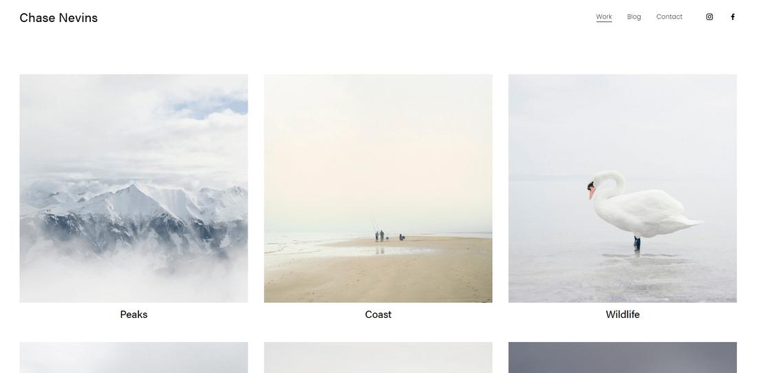 best squarespace template for portfolios nevins