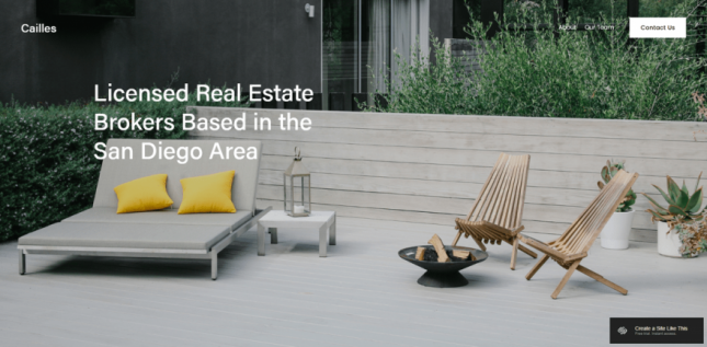 best squarespace template for real estate cailles