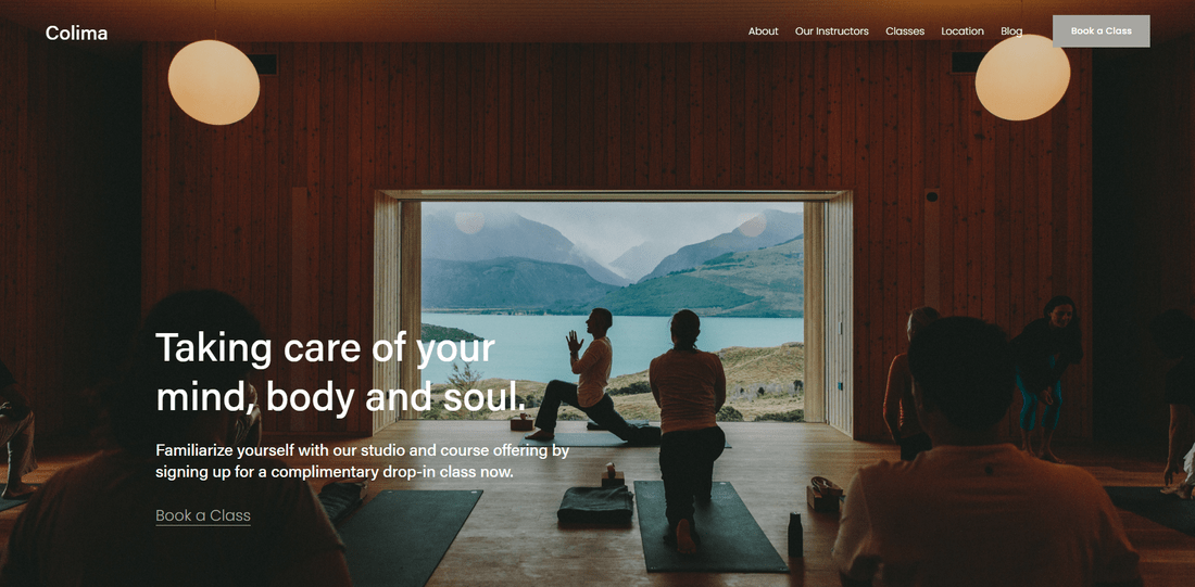 best squarespace template local business colima