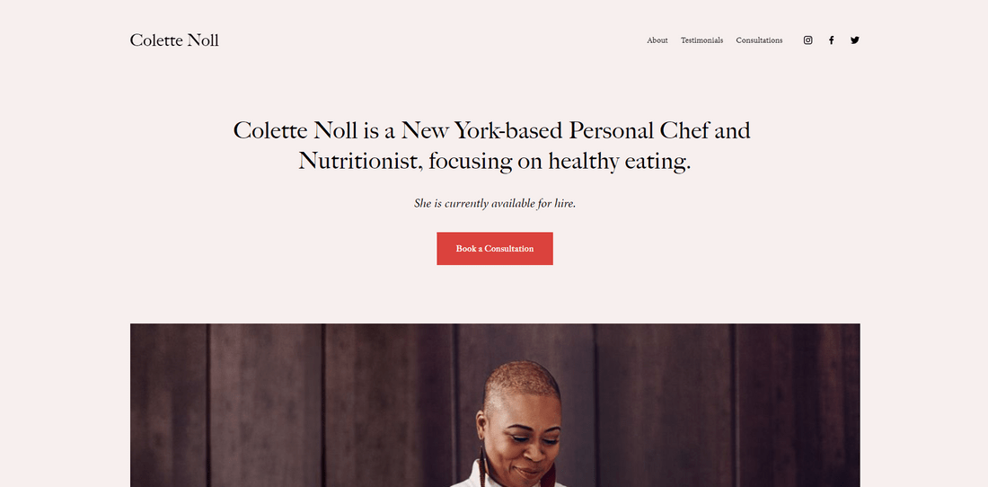 best squarespace template personal and cv noll