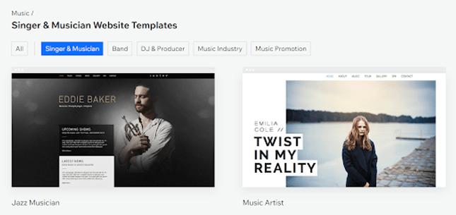 wix design templates