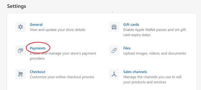 how to set up shopify payments