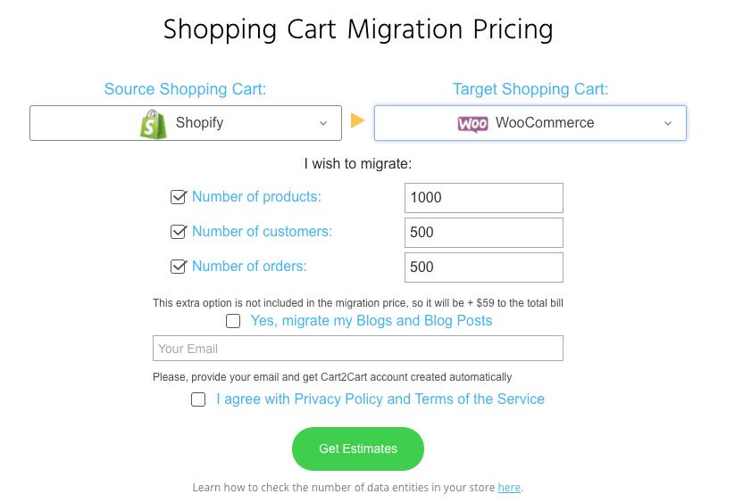 Cart2Cart Estimate
