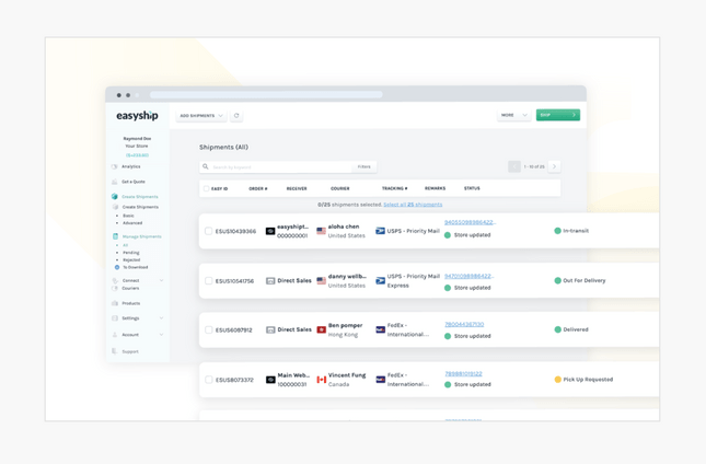 easyship features