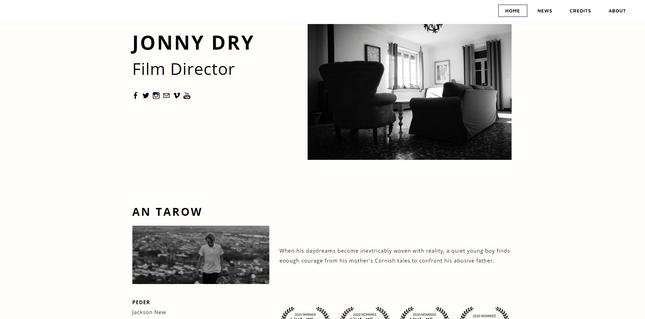 weebly portfolio example jonny dry