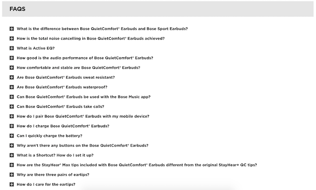 Bose FAQs