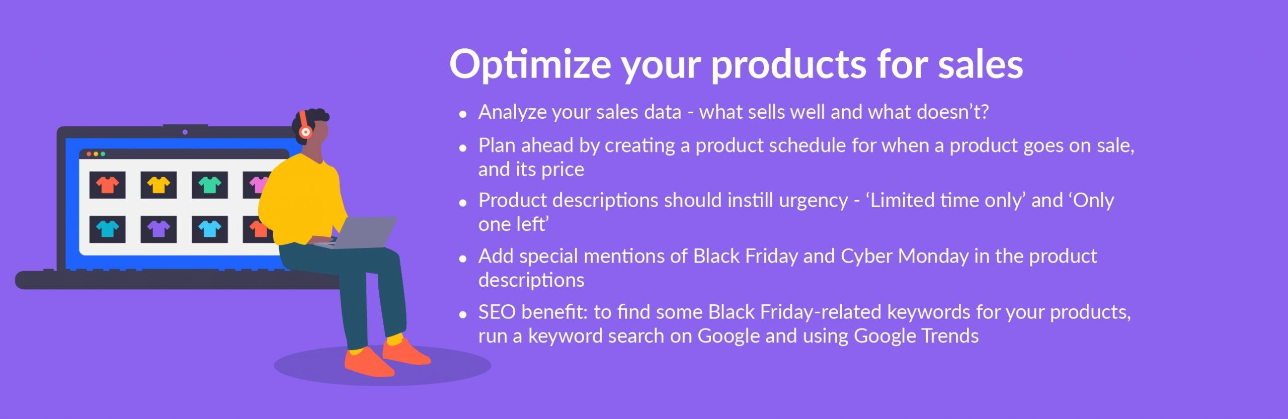 black friday tip optimize products