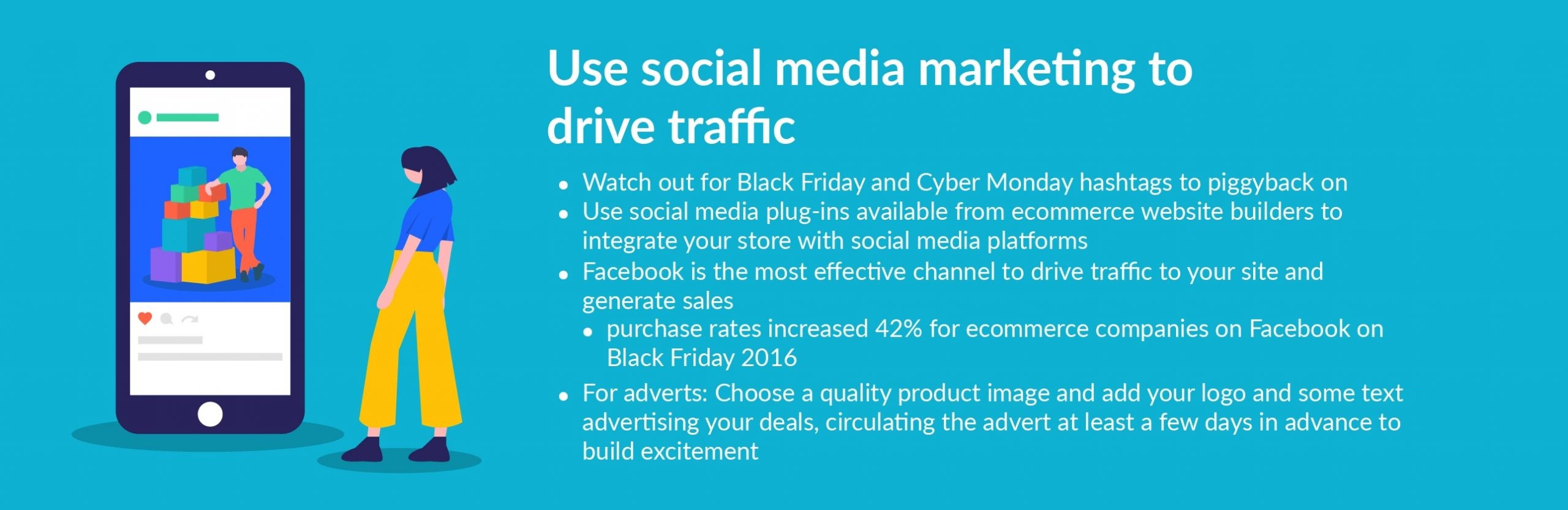 black friday tip use social media