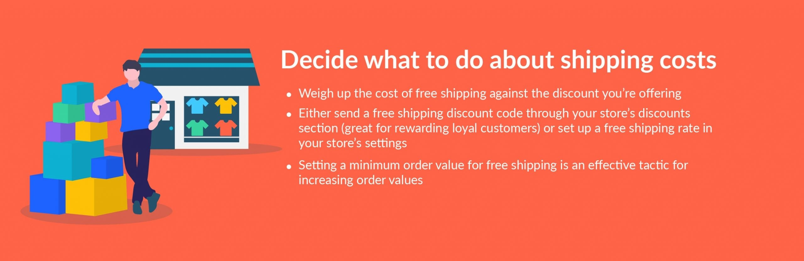 black friday tip decide on shipping costs