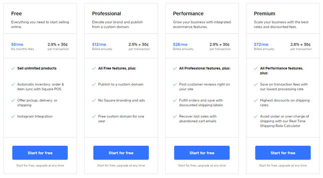 square online price plans