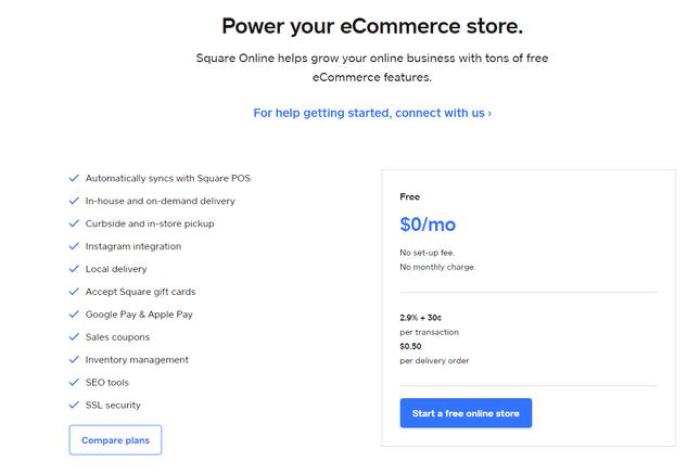 square online pricing free plan details