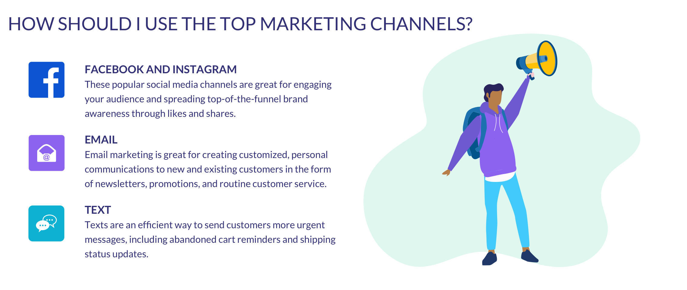 how to use the top marketing channels