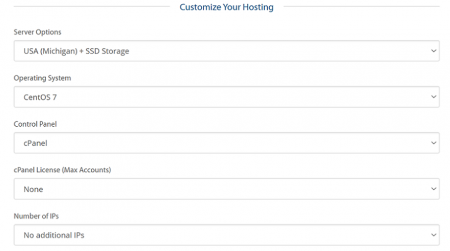 customize your a2 hosting cloud plan