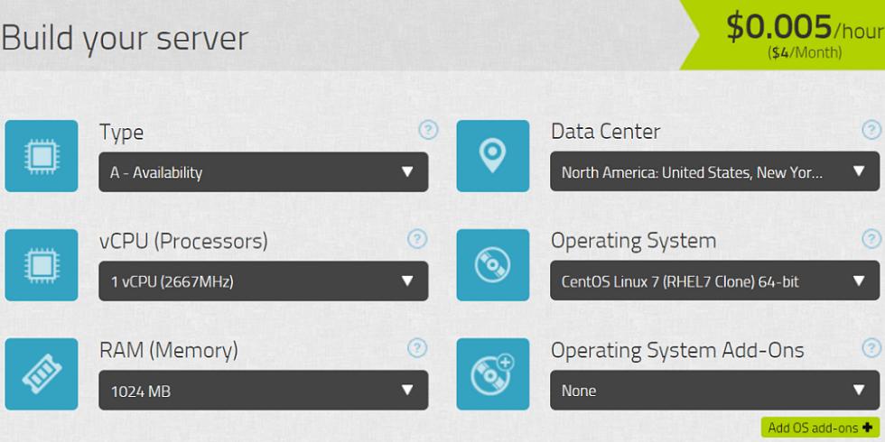 kamatera cloud server builder