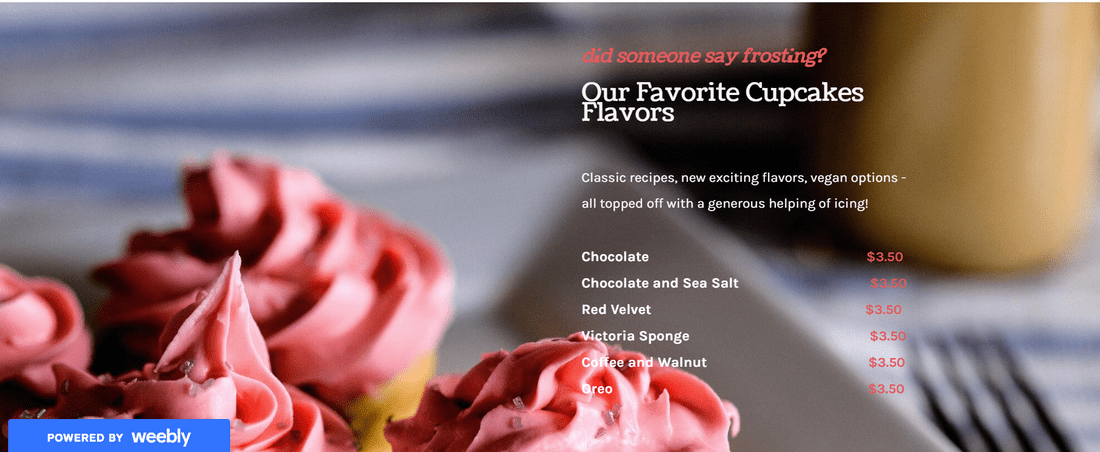 formatting text and images on weebly