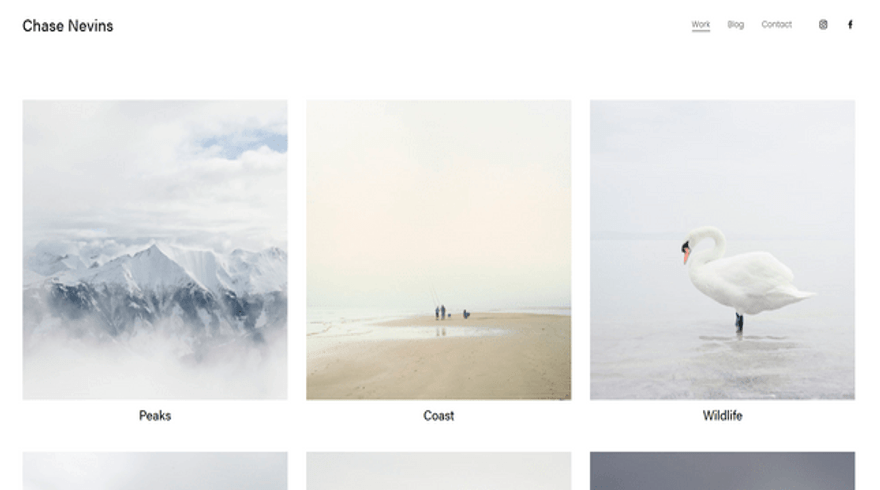 squarespace nevins template