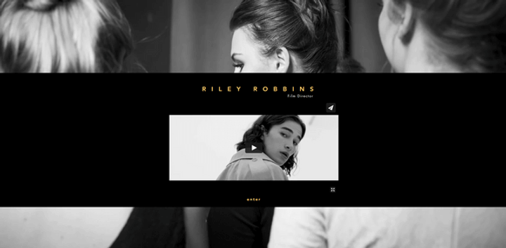wix portfolio example riley robbins film