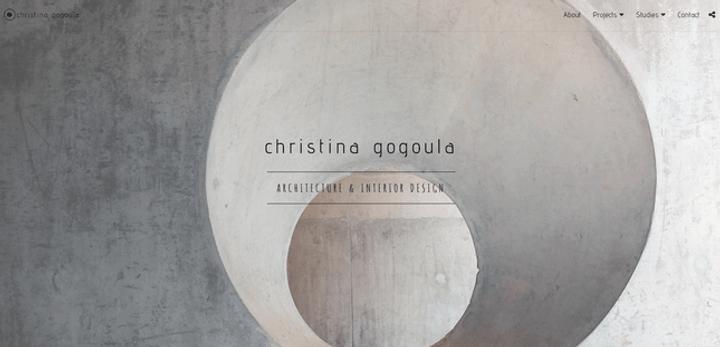 site123 example portfolio christina gogoula
