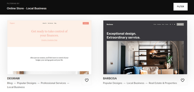squarespace small business templates