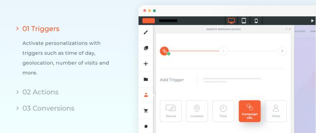 duda personalized user journeys
