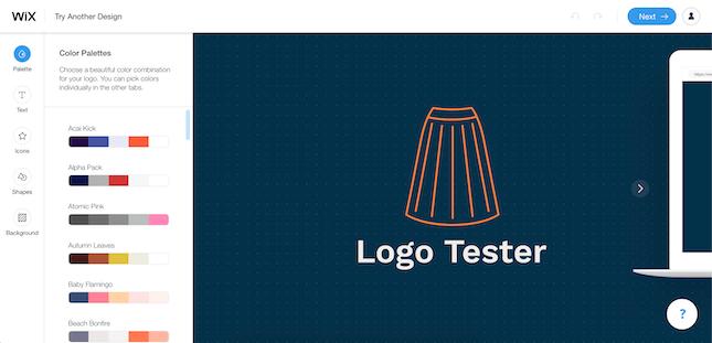 Wix Logo Maker Interface