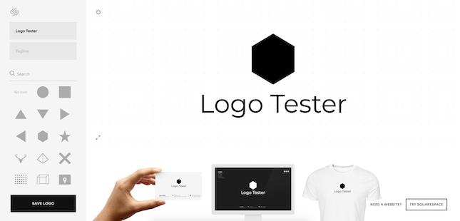 Squarespace Logo Maker Interface
