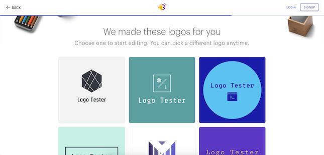 Shopify Hatchful Logos