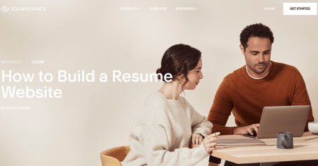 squarespace best resume website builder