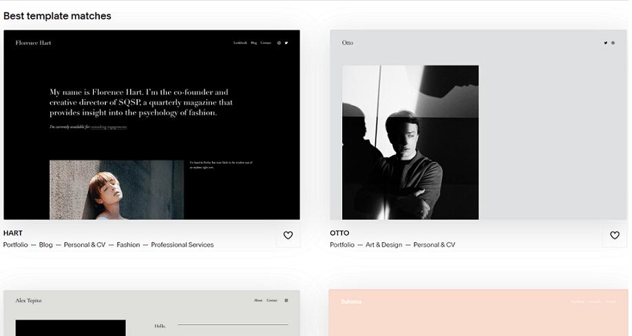 squarespace resume templates
