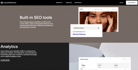 squarespace built-in features