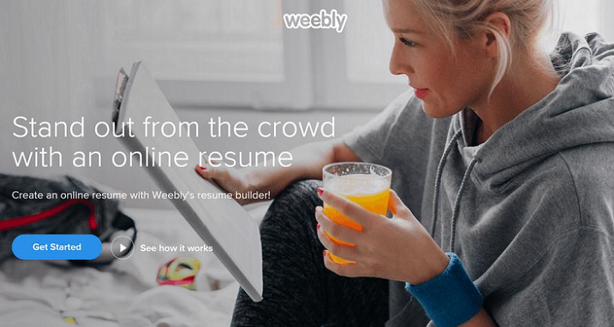 weebly resume website builder