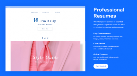 wix resume website builder