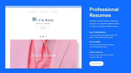 wix resume website builder