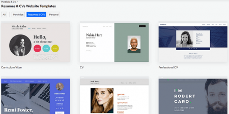 wix resume templates