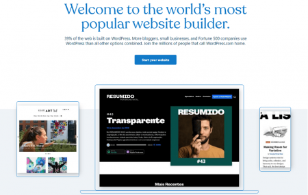 wordpress.com resume website builder