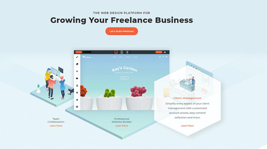 duda resume website builder